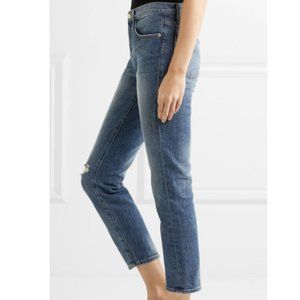 Frame Womens Slim Jeans Cropped High Rise Size 25